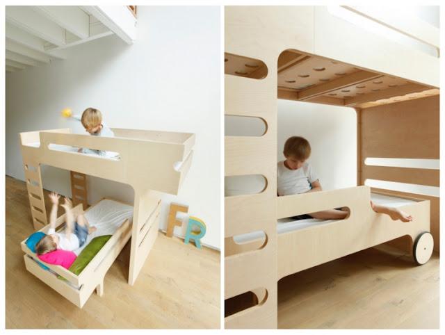 Dormitorios para ni os en melamina o mdf dormitorios - Camas en l para ninos ...
