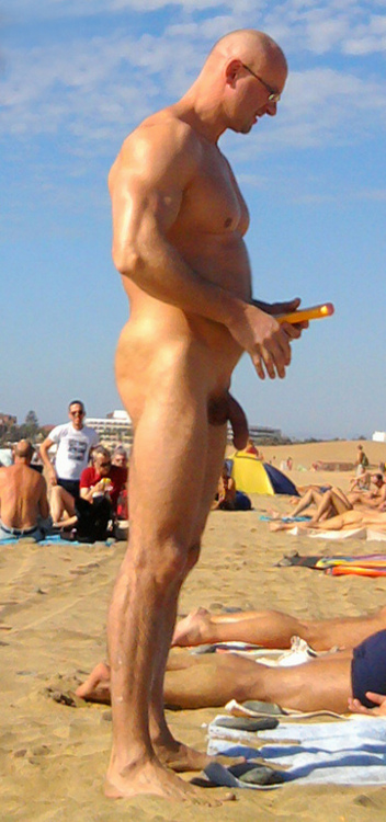 Beach Men Without Trunks