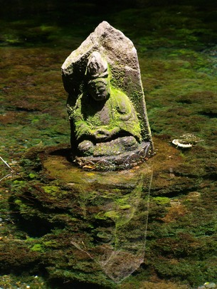 Moss-covered Monk