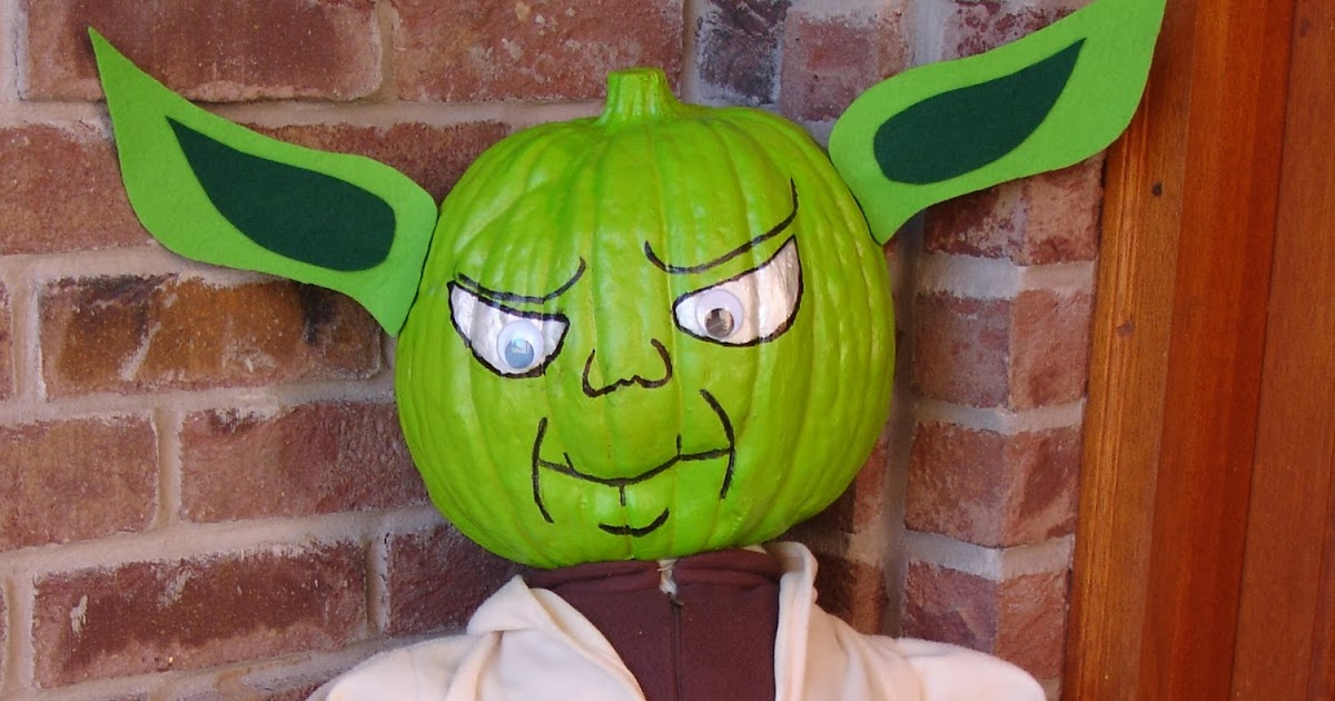 Image result for painted pumpkin yoda