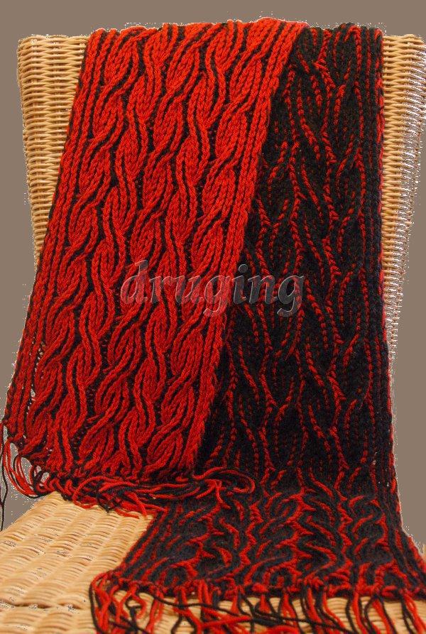 Two Color Knit Scarf Pattern : Knitting Break - Przerwa na dzierganie!: PLomienny Szalik - Dwukolorowy Brios...