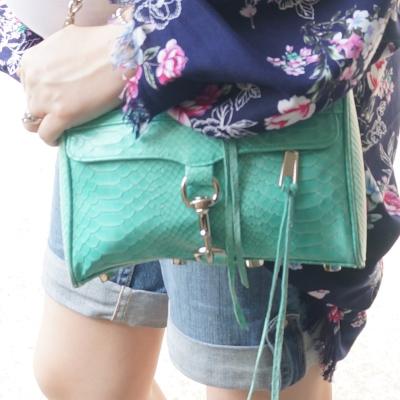 AwayFromTheBlue | Rebecca Minkoff aquamarine Mini MAC bag