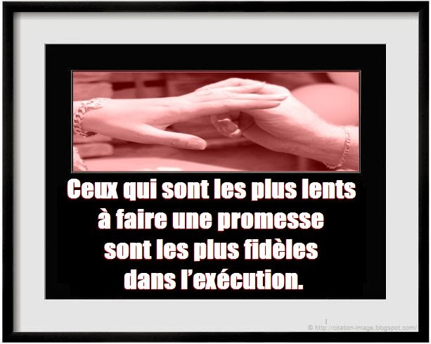 Citation promesse d'amour en image