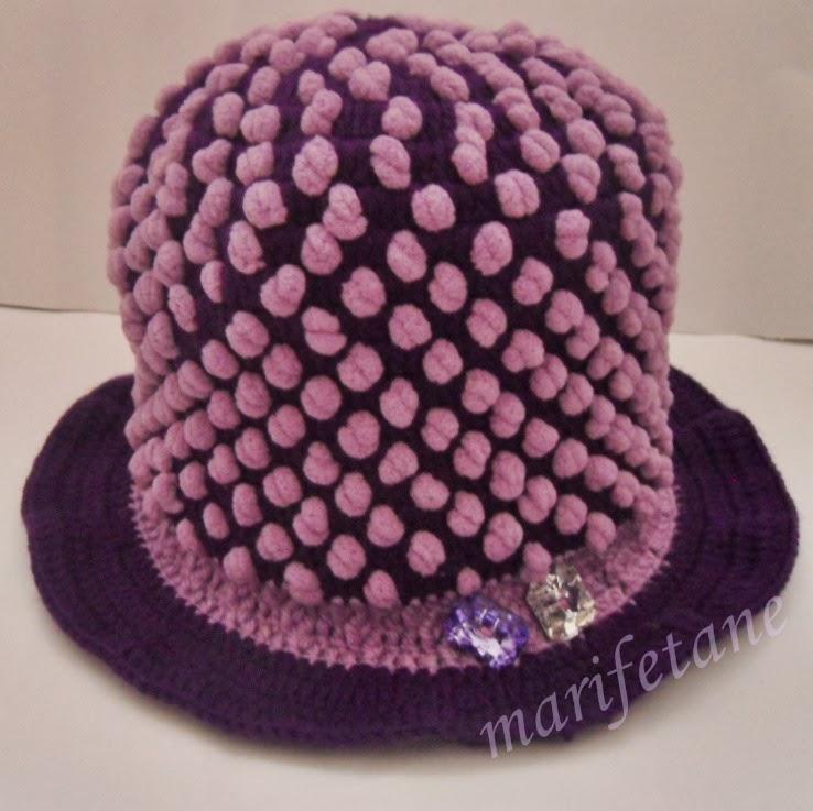 Dut İp İle Tığ İşi Şapka