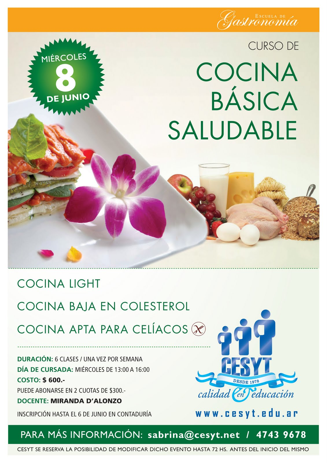 Gastronom a curso de cocina saludable for Cocina saludable