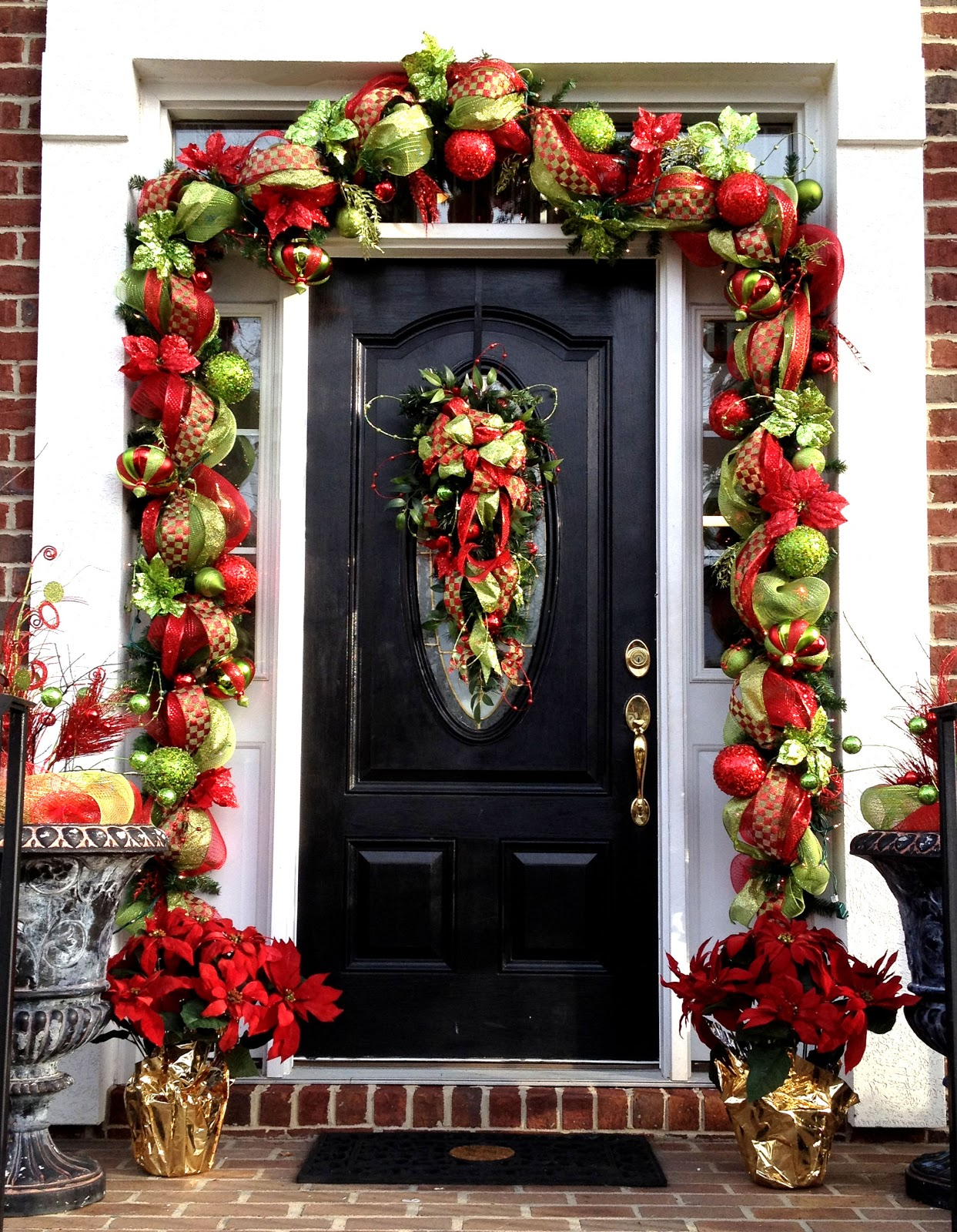 50 best christmas door decorations for 2017 for 3 wreath door decoration
