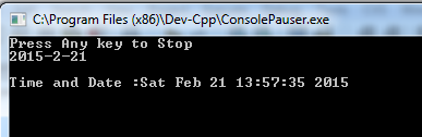 Time and Date in C++