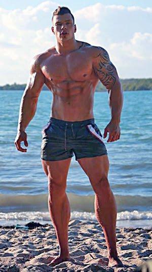 Horny Boy On the Beach
