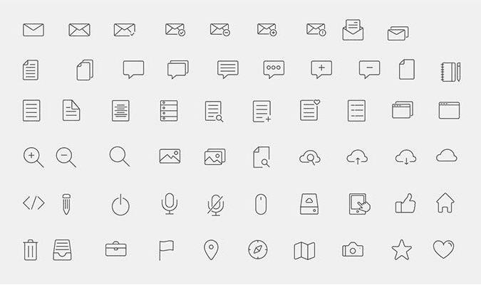 300+ Line Icons (PSD, AI, EPS)