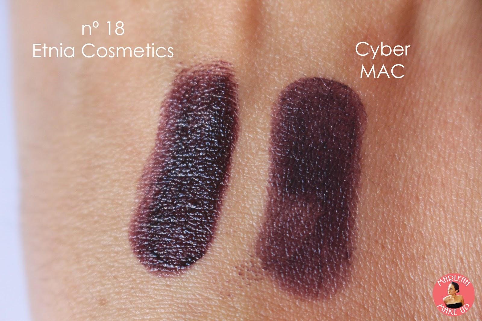 labial cyber mac nº18 etnia makeup maquillaje lipstick swatches