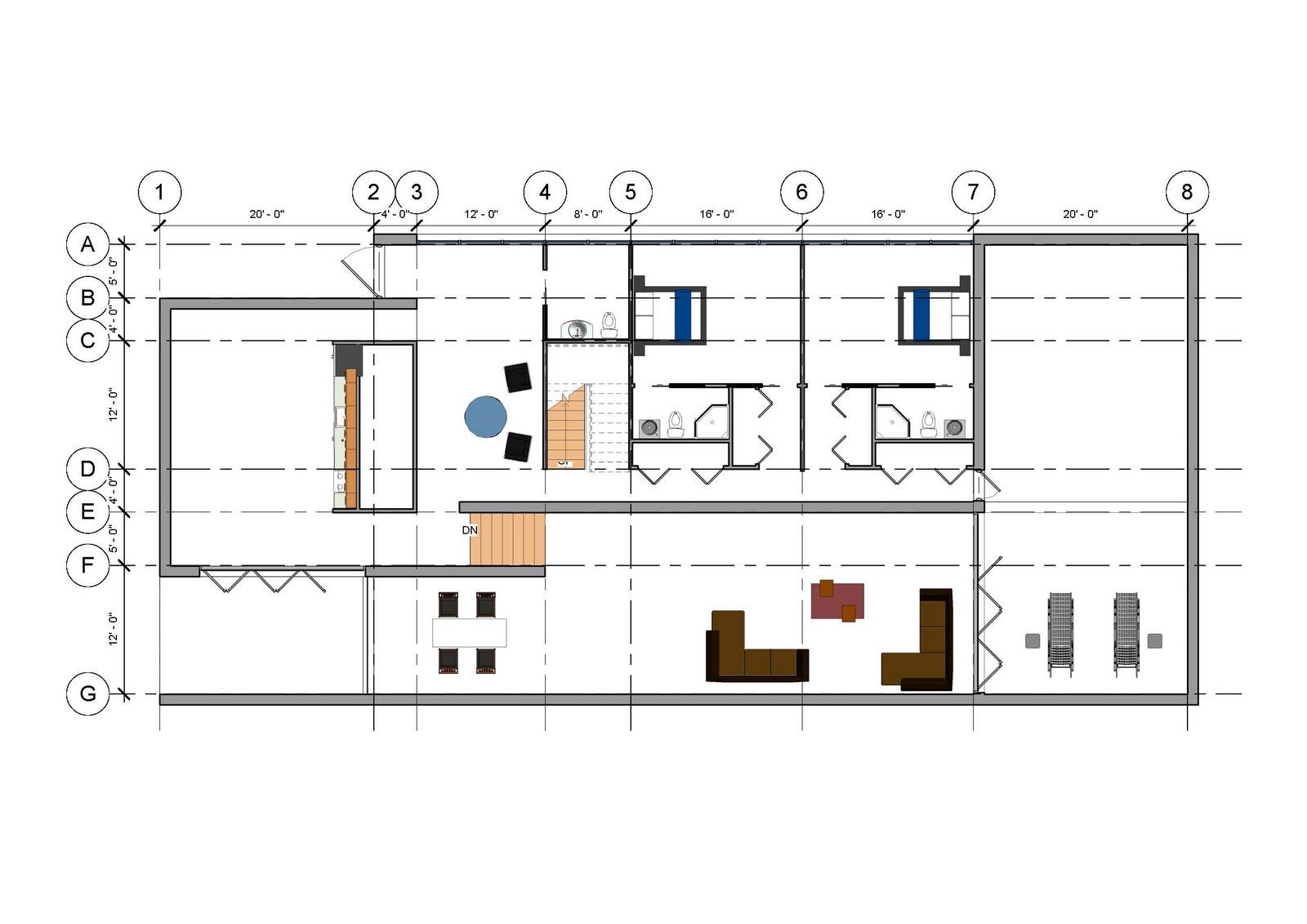 Revit detail 13 5 modern house design development p3 for Modern floor plans