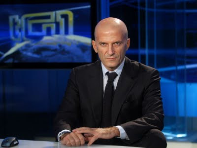 Augusto Minzolini, as head of Italian public TV news service TG1