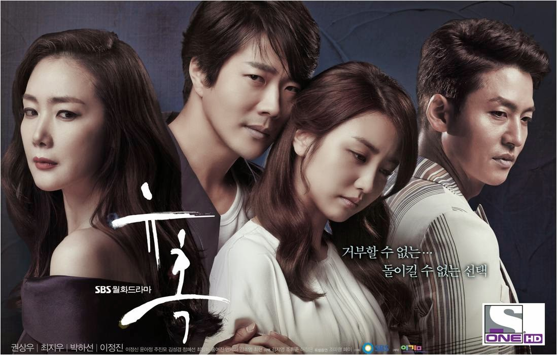 Korean Drama Series: Temptation, Kwong Sang Won, Choi Ji Woo,