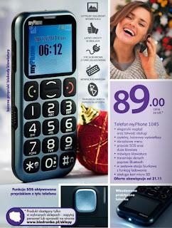 Telefon myPhone 1045 z Biedronki ulotka