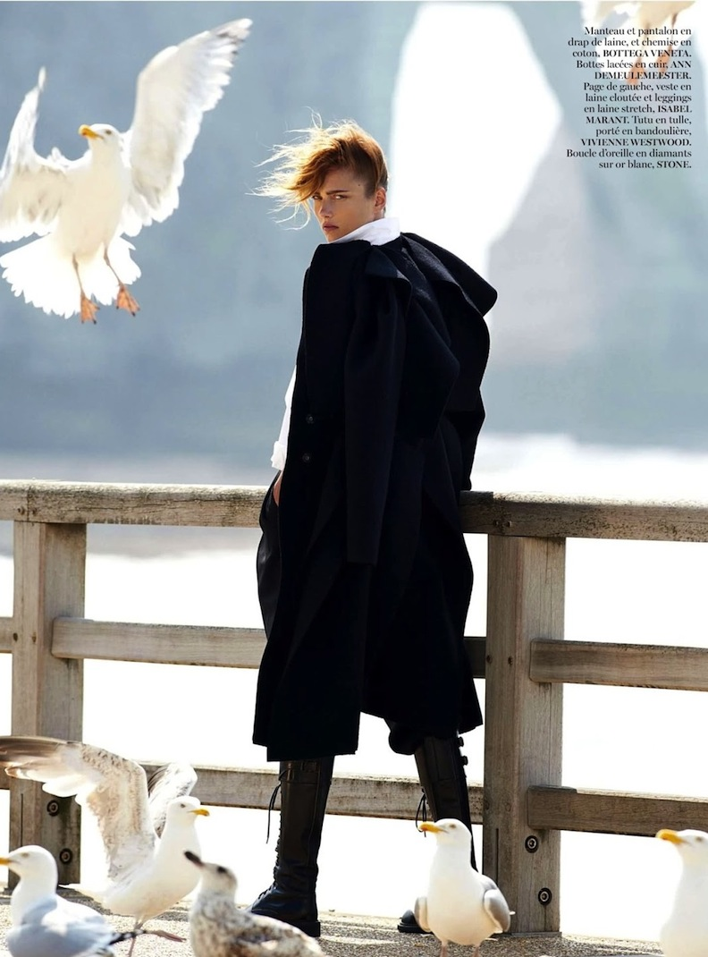 karmen pedaru by gilles bensimon for vogue paris august 2013; isabel marant, vivienne westwood