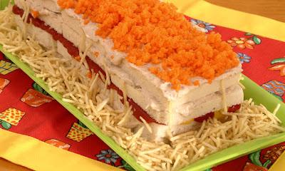 Sanduíche colorido de verão light