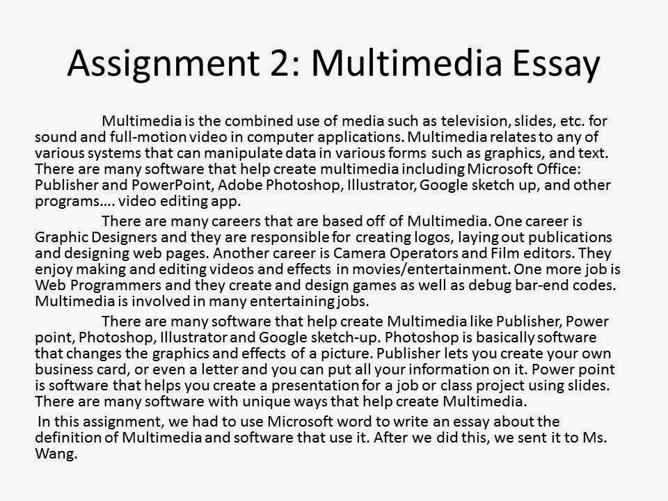 essay on multimedia software Resources for classroom multimedia use, software tools, plug-ins and media viewers creating media and media collections.
