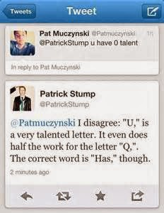 Chloe\'s Blog: Patrick Stump Quotes And Funniness ^_^