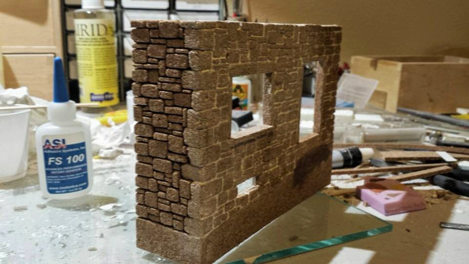 Making Stone With Cork Scale Military Diorama Building