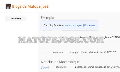 Blog Criado
