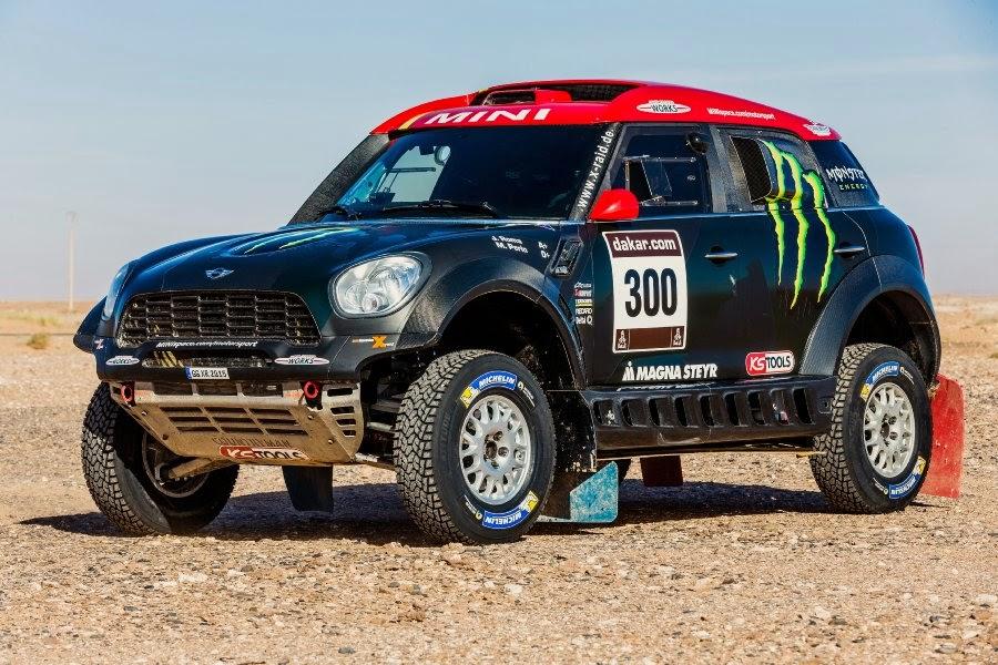 Mini ALL4 Racing 2015 (#300 Roma - Périn) Front Side