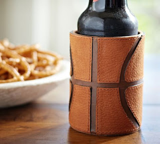 Basketball Leather Koozie