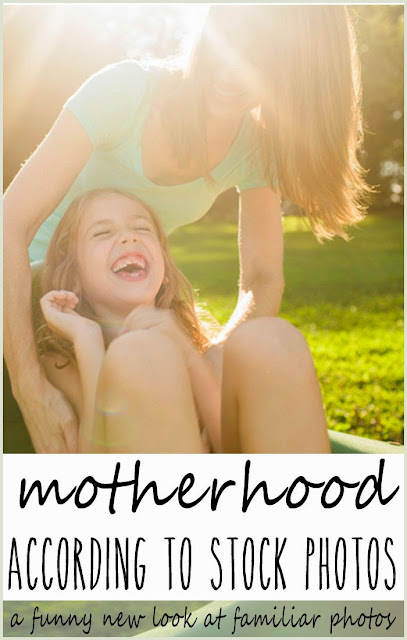motherhood according to stock photography - funny parenting article by Robyn Welling @RobynHTV