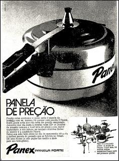 panela de pressão Panex, 1972; os anos 70; propaganda na década de 70; Brazil in the 70s, história anos 70; Oswaldo Hernandez;