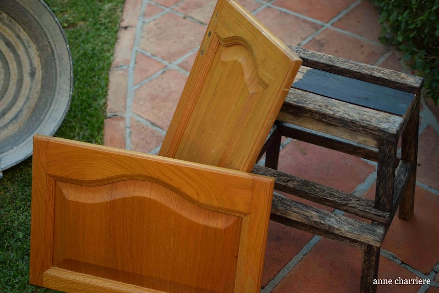 www.annecharriere.com, reciclar puertas armario cocina, bandeja, DIY, frugal marcela,