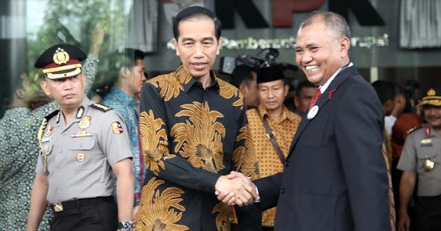 Presiden Jokowi saat meresmikan Gedung Baru KPK