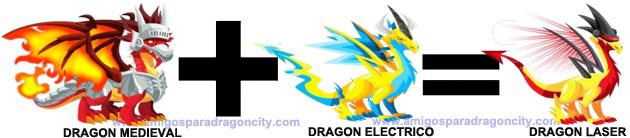 como sacar el dragon laser en dragon city combinacion 3
