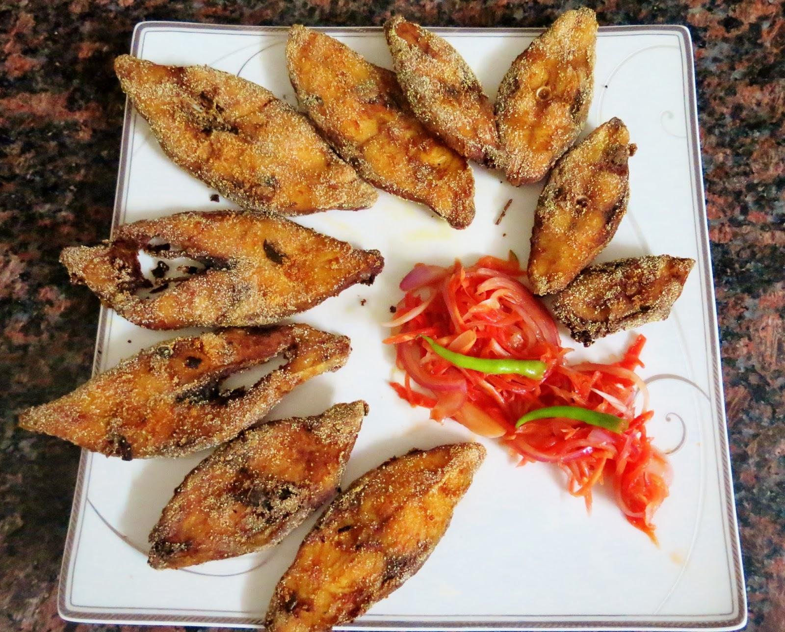Deep fried Pomfret (Konkani Style)