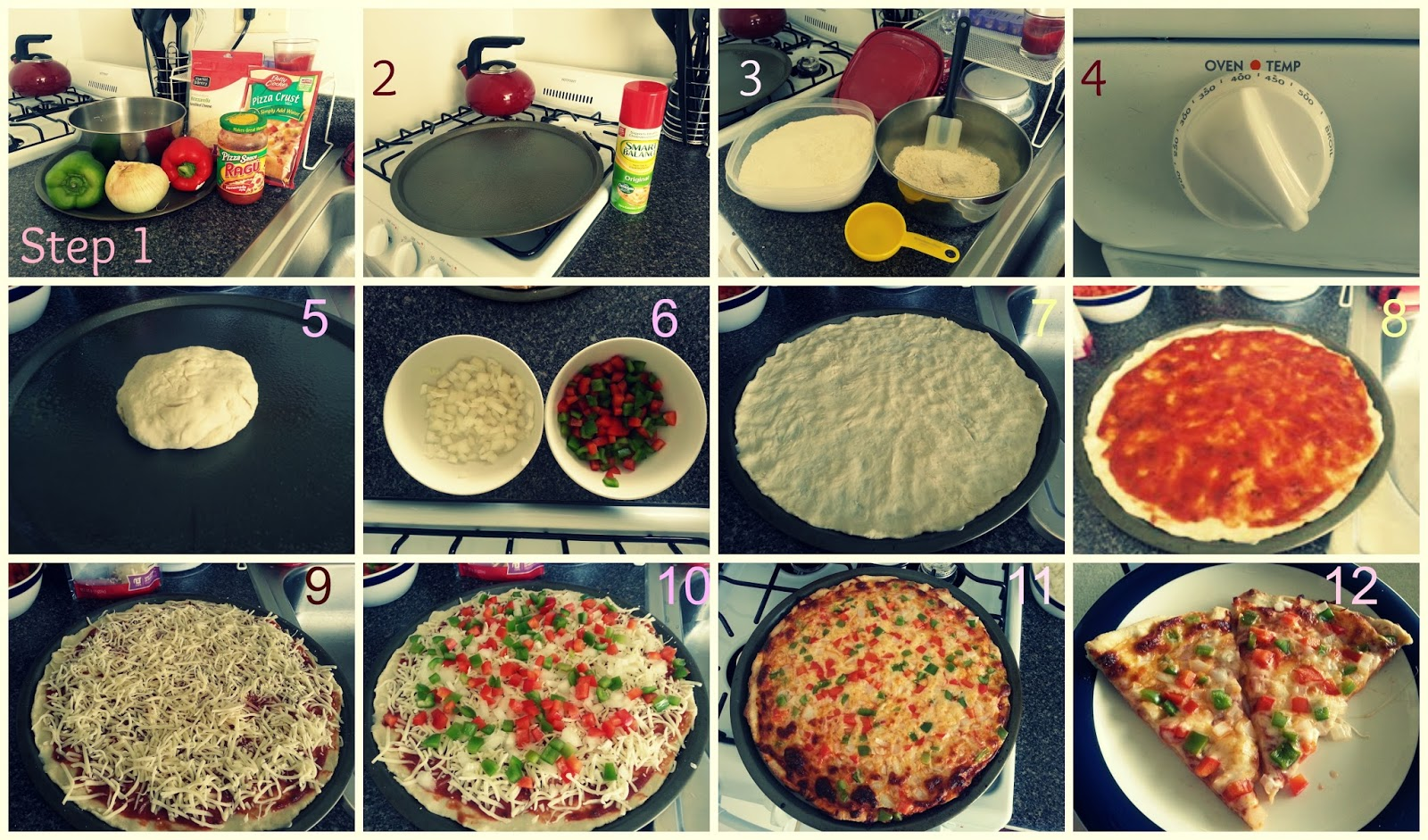 Pizza dough recipe step by step