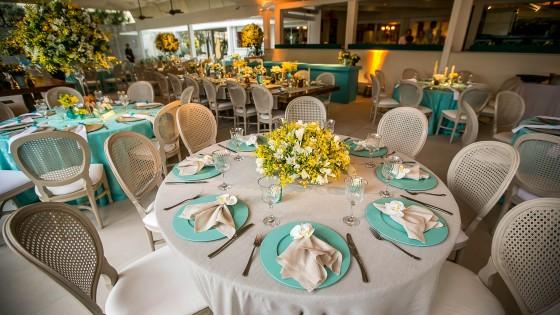 Detalhes de Casamento Decoração azul tiffany, amarelo e marrom!!