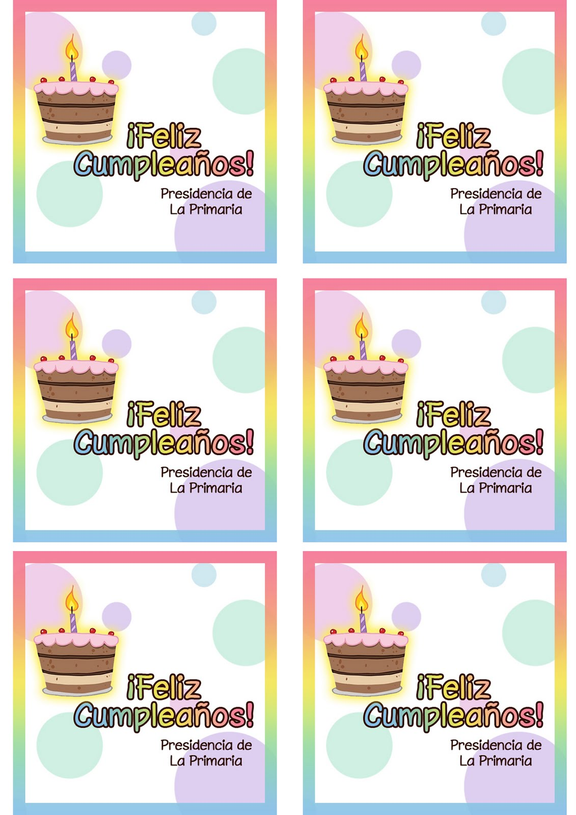 tarjetas de cumpleaños conexión sud