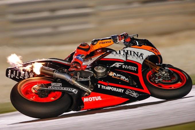 Parade Back Fire Sesi Tes MotoGP Qatar