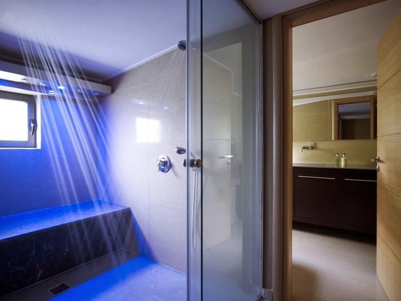 Shower in Modern Mansion in Dionysos