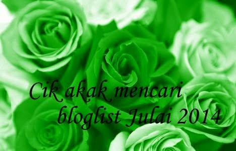 Segmen Cik Akak mencari bloglist julai 2014