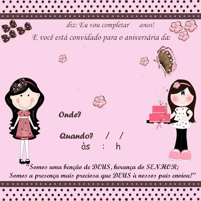Convite De Anivers  Rio Rosa   Po   Marrom  Modelo P  Quem Quiser