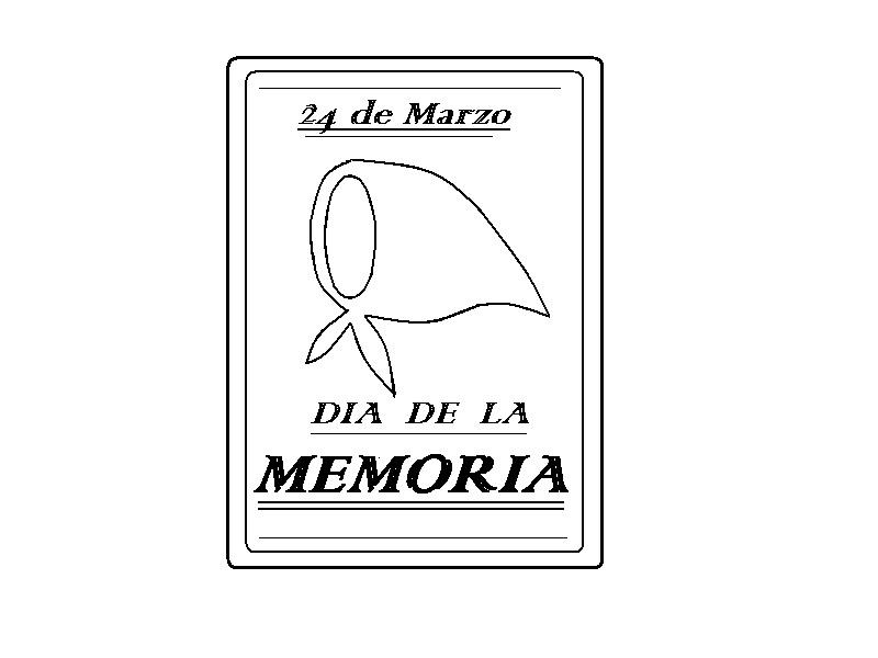 DIBUJOS PARA DOCENTES: 24 de Marzo \