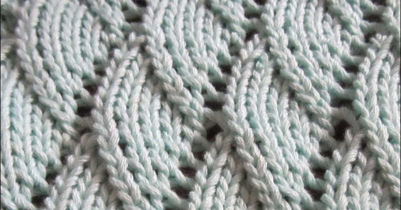 Wave Knitting Pattern Lesanismfo For