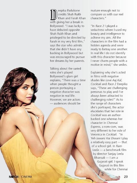 Deepika Padukone NOTCH Magazine