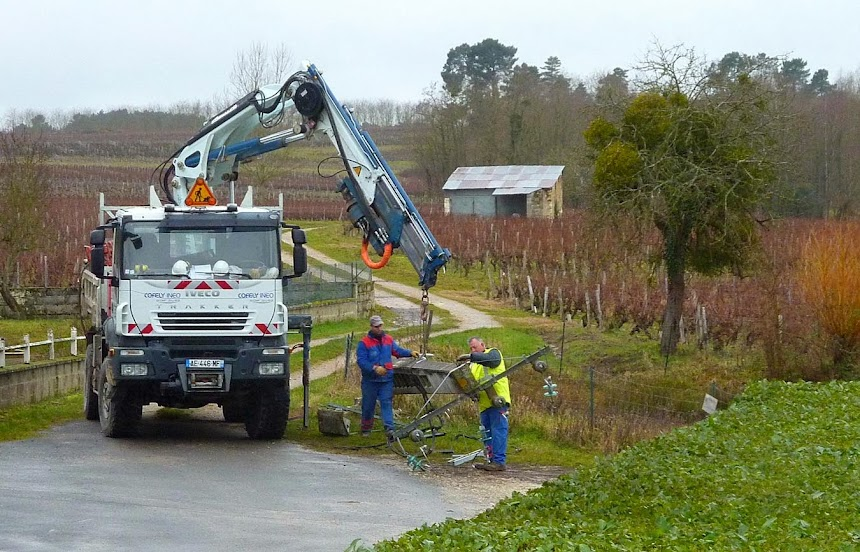 Demolition Concrete Poles : Living the life in saint aignan one down and two to go