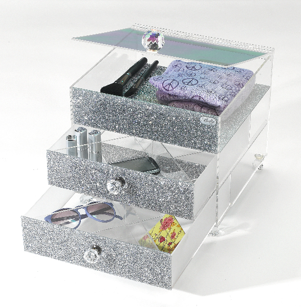 MAR+Display+Silver+BellaBoxx+Open Kardashian Style Acrylic Makeup Organizer Giveaway!