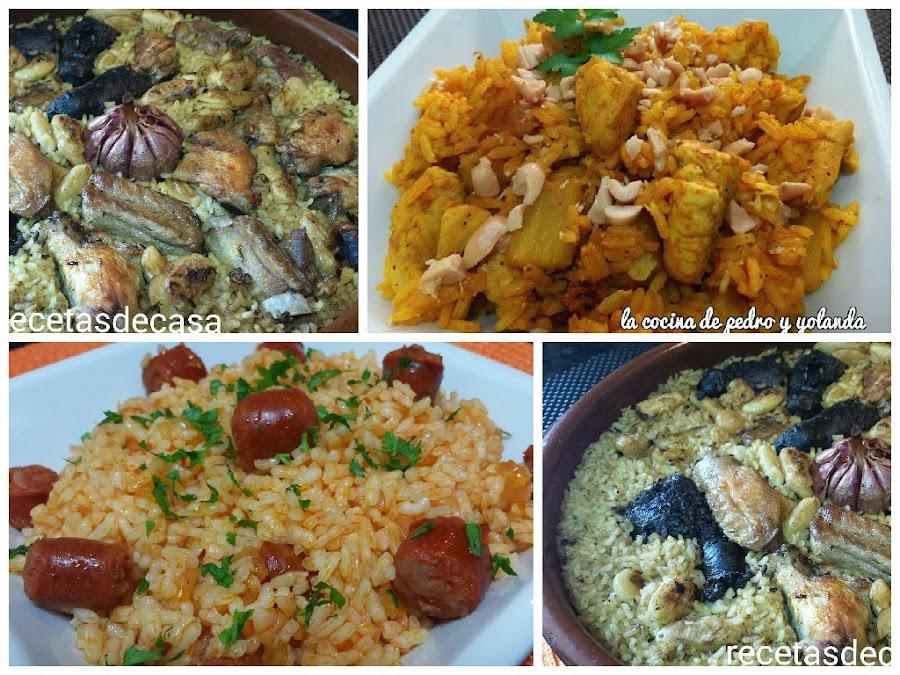 tres sencillos y rpidos platos de arroz