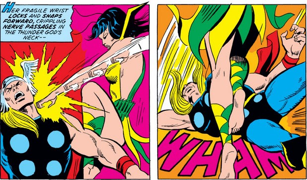 Avengers 114 Mantis Thor knockout