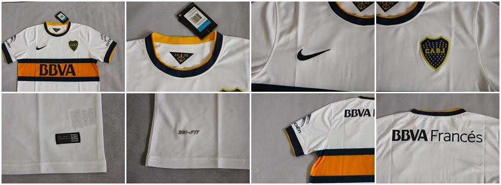 Detail Kaos Bola Jersey GO Boca Junior Away 14-15
