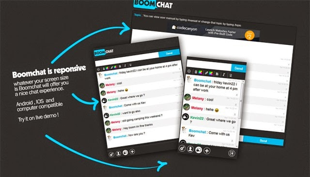 Boomchat - Responsive PHP/AJAX Chat