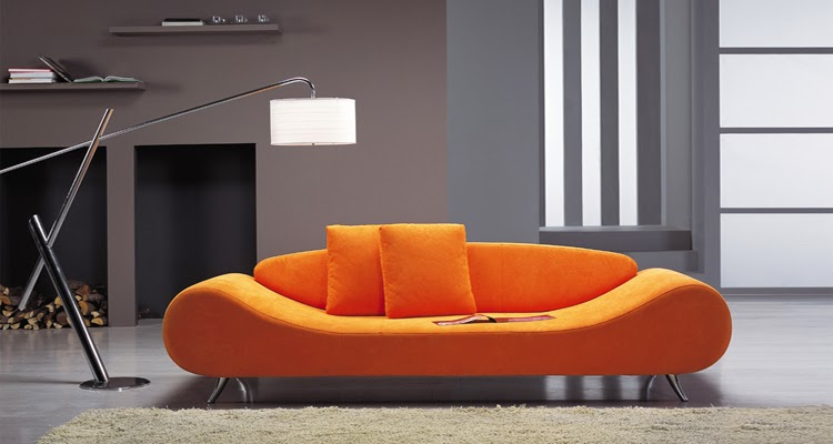 You Can Mix Up The Orange Color Sofa With Yellow And Red Colored Cushions,  Curtains, Walls And Rugs With Splashes Of White For Creating Highly  Energetic ...