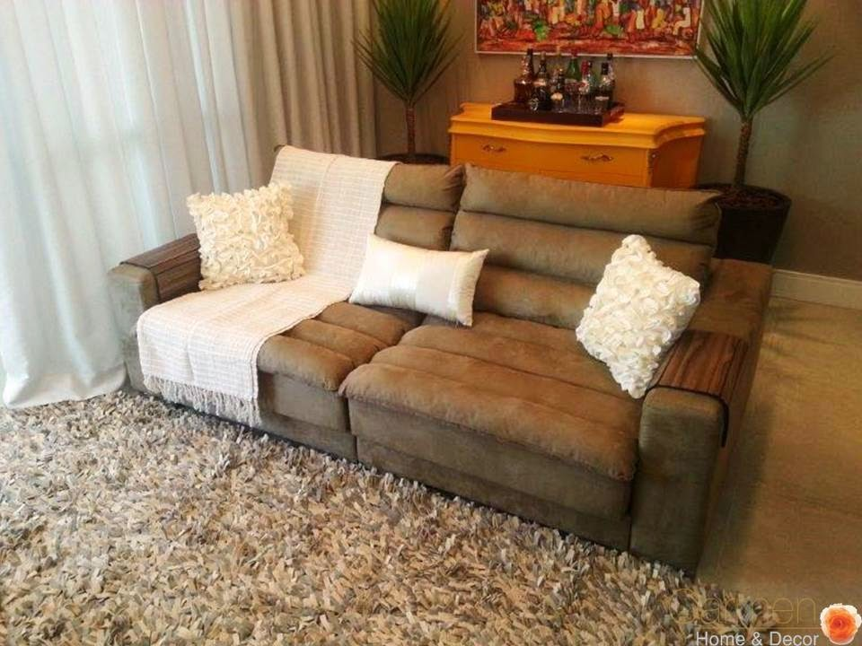 Decoracao Sala De Estar Sofa Cinza ~  SALA DE ESTAR E HOME THEATER – Papo de # decoracao sala branca e